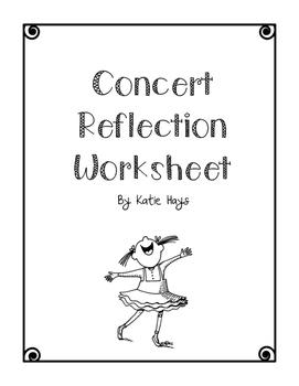 Concert Reflection Form
