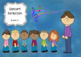 Concert Reflection, Grades 4+