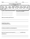 Concert Reflection Worksheet (3-8)