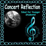 Concert Reflection Worksheet (for younger students)