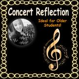 Concert Reflection Worksheet (for older students)