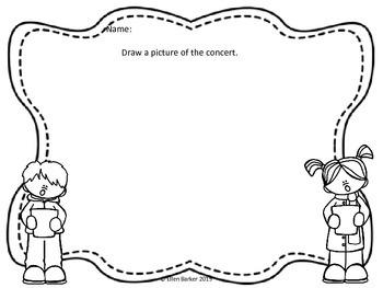 Concert Reflections Worksheets