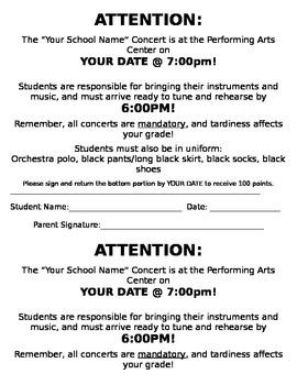 Concert Reminder