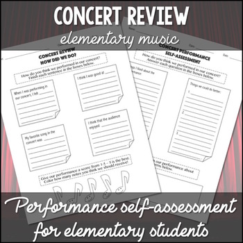 Concert Review Worksheets