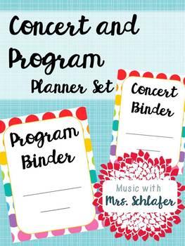 Concert and Program Planner Set