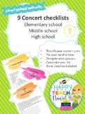 Concert checklists
