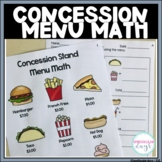 Concession Stand Menu Math