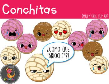 Conchitas Smiley Faces Clip Art