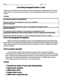 Concluding Paragraph Persuasive Writing Organizer