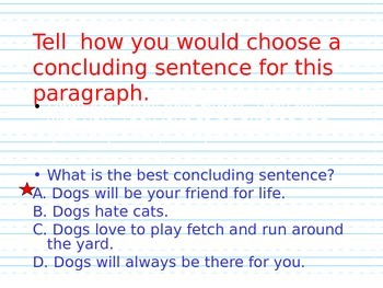 Concluding Sentence Powerpoint