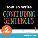 Concluding Sentences