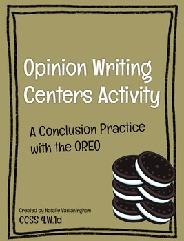 Conclusion Center Activity for Opinion Writing CCSS 4.W.1