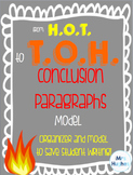 Conclusion Paragraph Model for Middle and High School Students