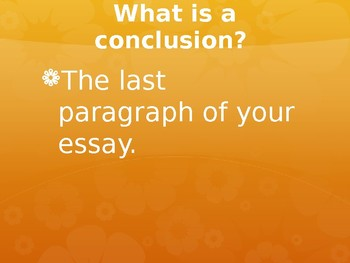 Conclusion Paragraph Notes