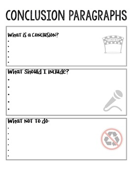 Conclusion Paragraph Notes & Activity Bundle