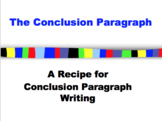 Conclusion Paragraphs Power Point-For struggling, beginning writers