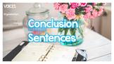 Concluding Sentences (Conclusion Sentences)