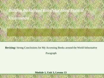 Conclusion Sentences (EL M1, U3, L13)