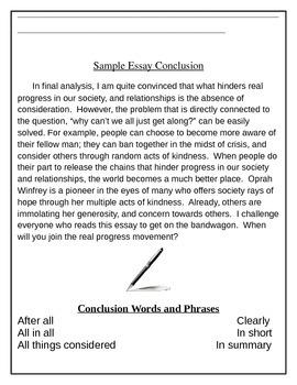 Conclusion Steps
