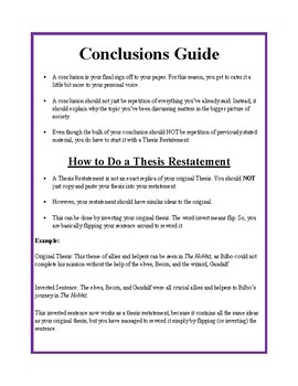 Conclusions Guide
