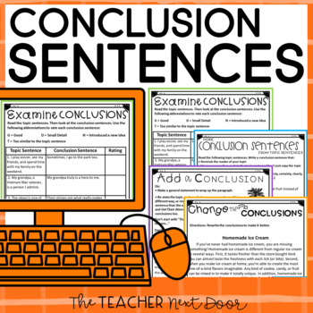 Conclusion Sentences: Paragraph Writing for 3rd - 6th Grade