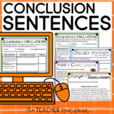 Conclusion Sentences for Paragraph Writing: Print & Digital | Distance Learning