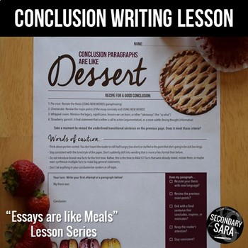 conclusions are like dessert minute essay writing lesson