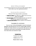 Conclusions for Opinion Writing