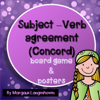 Subject-Verb Agreement (Concord) Board Game and Posters