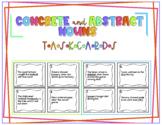 Concrete & Abstract Noun Task Cards