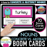 Concrete & Abstract Nouns | Digital Task Cards for Boom Ca