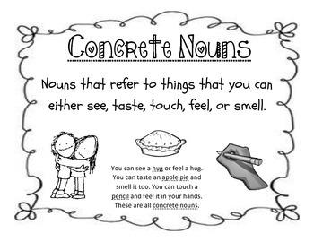 Concrete & Abstract Nouns Packet: 3rd Grade CCSS ELA / Language Center Tasks