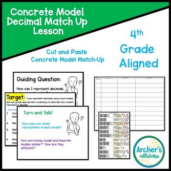 Concrete Model Decimal Match Up Lesson