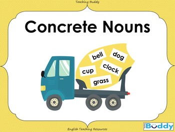 Concrete Nouns (18 slide PowerPoint and 2 worksheets)