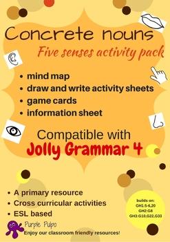 Concrete Nouns-Five Senses Activity pack