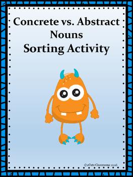 Concrete Nouns vs. Abstract Nouns Sorting Center Activity