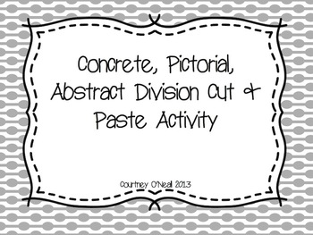 Concrete, Pictorial, Abstract Beginning Division Activity (Hands-on!)
