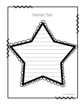 {Template} Star Concrete Poem