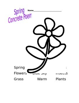 Concrete Poem Templates