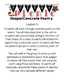 Concrete Poetry Lesson
