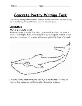 concrete poetry project by sarah laski teachers pay teachers. Black Bedroom Furniture Sets. Home Design Ideas