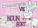 Concrete and Abstract Noun Sort
