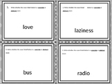 Concrete and Abstract Noun Task Cards-24