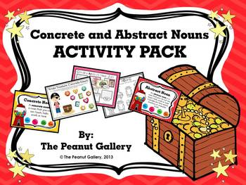 Concrete and Abstract Nouns Activity Pack