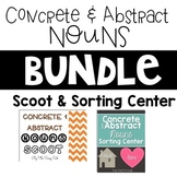 Concrete and Abstract Nouns Bundle: Scoot & Sorting Center