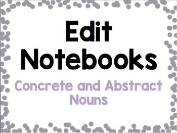 Concrete and Abstract Nouns Grammar Practice
