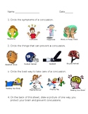 Concussion Facts and Prevention Worksheet
