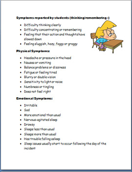 Concussion Guide for Teachers and School Professionals