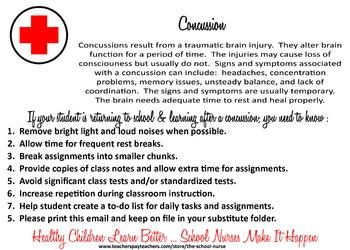 Concussion Health Information Card JPG