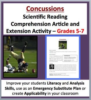Concussions - Scientific Reading Comprehension Article –